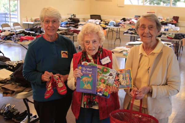 Adopt-a-Family volunteers, from left, Marsha Bode, Louise Buckley and Pauline Walpin.