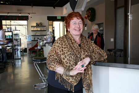 Kym Sawtelle, who works for Spa Josephine, believes the fledgling Pearl Street District will help merchants establish themselves as a consumer destination.