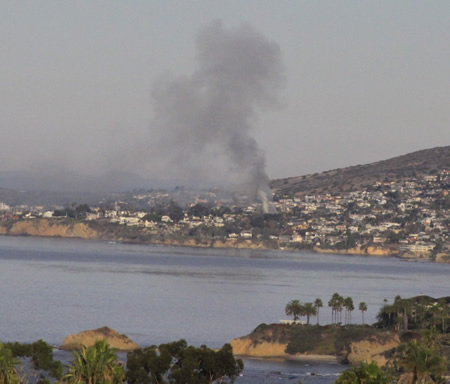 Monday's fire as seen from South Laguna.