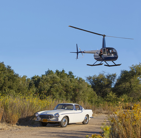 Photographer Tom Lamb works on capturing his own vintage car from his favorite professional vantage point.