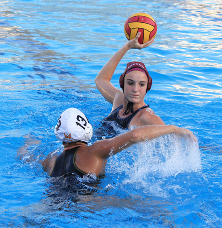 Junior Makenzie Fischer led top-ranked Laguna with three goals at home against fourth-ranked Foothill on Friday, Jan. 10. The Breakers suffered their first loss of the season against nine wins. Photos by Robert Campbell.