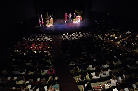 Photo: Scholarships are awarded in June at an honors convocation.