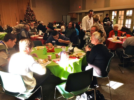 Breakfast for Laguna's homeless population at Laguna Presbyterian Church. Photo by Rick Shoemaker