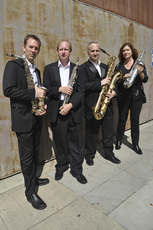 The sax quartet City of Angels performs at the museum, Thursday, Jan. 9.