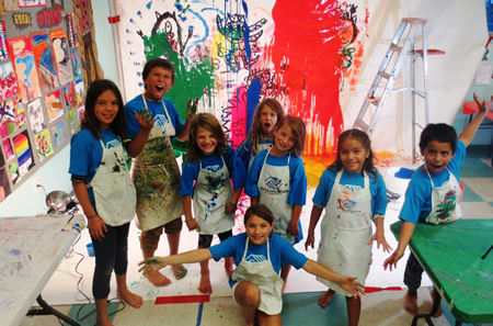 From left, club participants Autumn, Zachary, Mia, Izzy, Johnni, Mia, Valery, and Brian.