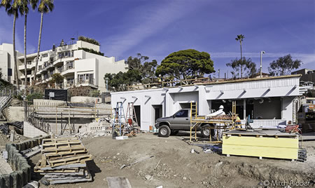 Checking in on construction progress on the Main Beach lifeguard headquarters