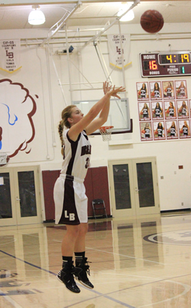 Alexandra Lewis, shown here as a freshman, had a school record 44 3-pointers as of Monday, Feb. 3. Photo by Robert Campbell