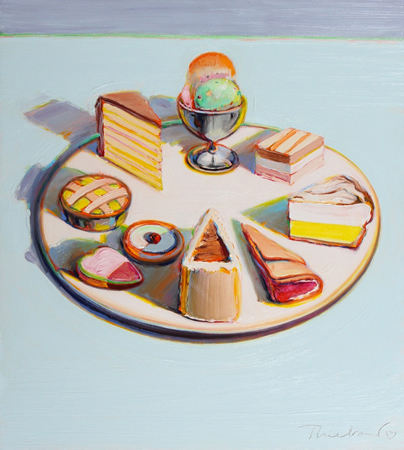 "Wayne Thiebaud's ""Dessert Circle,"" one of 60 works the artist selected himself for the new museum exhibition."