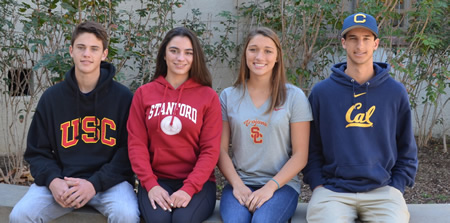 From left, Kack Wyett, Anya Miller, Cara Borkovec and Preston GrandPre.