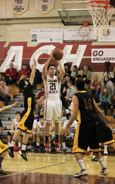 Senior Matt Jones hit three key three-point shots against Bosco Tech on Wednesday, Feb.