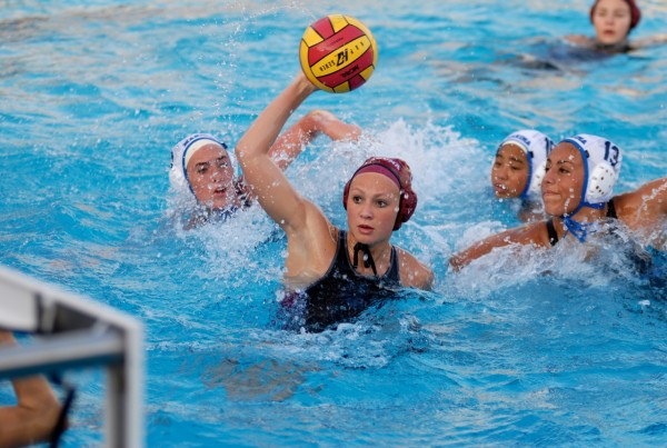 Natalie Selin in action against Marina in the opening D-1 playoffs