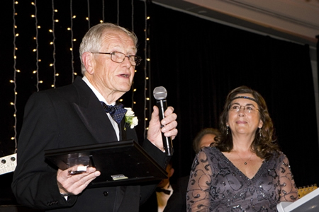 Colin Henderson with Dawn Price at a recent fundraising gala.