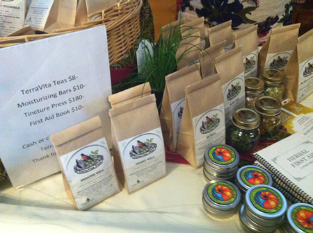 Merchandise available at herbal workshops taking place this weekend.