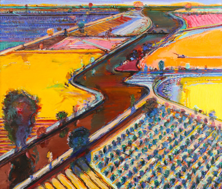 """Brown River,"" one of the Wayne Thiebaud's works in the Laguna Art Museum's new exhibition. Local Gene Cooper shares his insights into the artist and his mentor. See Daniella Walsh's feature in A&E."