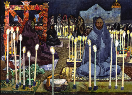 """Millard Sheets, """"Night Of The Dead,"""" is displayed as part of three new exhibits opening to the public Sunday, Feb. 23, at Laguna Art Museum, 307 Cliff Dr. 949-494-8971. More details in the Arts section."""