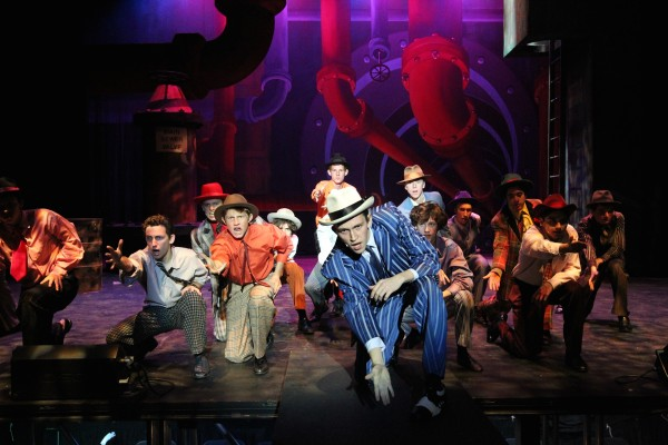 "A scene from the high school production of ""Guys and Dolls,"" in its final performances this weekend at the Artists' Theatre; shows Friday and Saturday are 7:30 p.m. and Sunday's matinee, 2:30 p.m. Tickets: 949 497-7769. Photo by Roark Gourley"