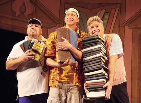 "Reduced Shakespeare Company's ""All the Great Books"" runs at Laguna Playhouse through March 30."