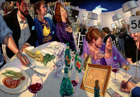 "Associate Professor F. Scott Hess's painting, ""Table 58"" portrays a scene from last year's event"