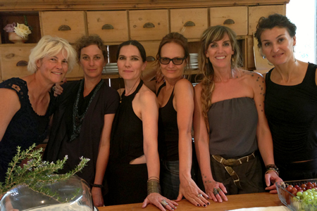 Collaborators, from left, Liesa Schimmelpfennig, Isabelle Cordemans, Jennifer Campbell, Valerie Maxwell, Regina Mumme Whitaker and Isis Riesterer.