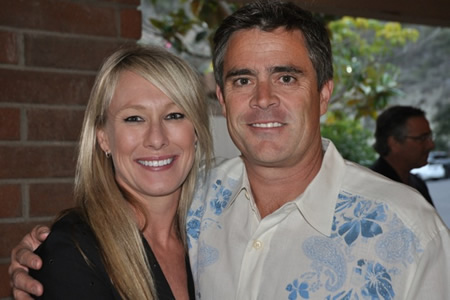 Little League supporters Stacie and Rob Capobianco at last week's fundraiser.