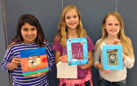 Max Reimers Budding artists, from left: Sol Comesana, Haylee Gurney and Lauren Tumbleson