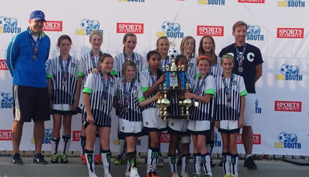 From left, top row: Coach Kent Pachl, Cosette Chesley, Emmalisa Randrup, Piper Naess, Cambria Hall, Kennedy Barlow, Grace Houlahan and Coach Ole Nielsen; bottom row, Hallie Carballo, Lizzy Cismoski, Tyesha Valles, Rama Thioub, Ella Pachl, Anika Nielsen. Not pictured: Peri Brennan, Camilla Potter, Karmen Schmidt, Olivia Shipp and Kate Hess.