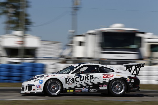 Michael Lewis on the Sebring raceway.