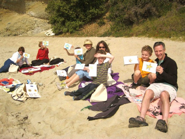 Past participants in LOCA's tide pool art classes.