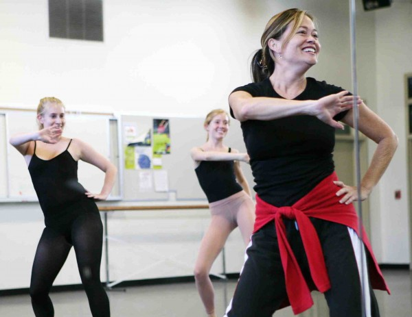 New dance instructor Lisa Jay leads a class Tuesday at LBHS. Staff photo by Courtenay Nearburg