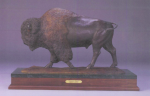 "The 23-inch ""American Bison"" work, the fourth of 30 cast by artist Michael J. Hart, was stolen from the Redfern Gallery last week."