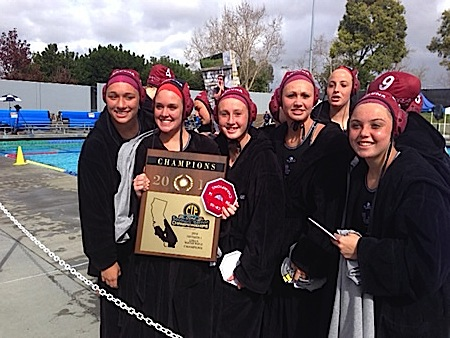 Girls water polo claims their prize March 1, defeating Newport Harbor 10-7.