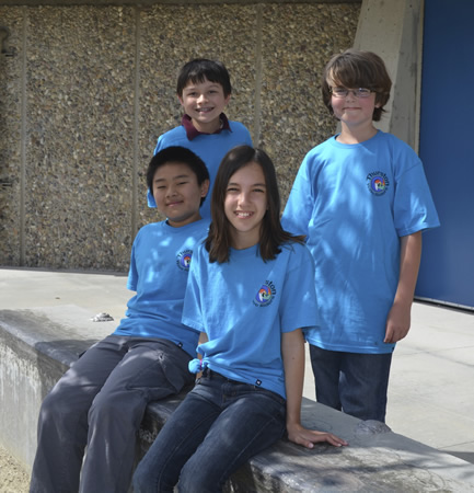 Avila's Army, from left, Trevor Richardson and Sebastian Fernandez, and seated, Kenneth Chu and Kaitlin Ryan.