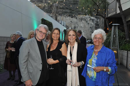 From left, Carl and Susan St. Clair, Susan Davis and Carol Reynolds enjoy the red carpet Art Stars reception