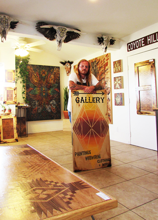 Chris Hitchcock in his newly opened gallery.