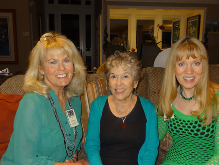 From left, Penny Stastny, Vivian Clecak and Carla White attend an Ebell Club dinner.