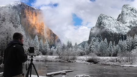 Cheyne Walls on location in Yosemite
