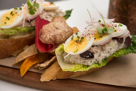 The Deck's tuna nicoise sandwich.