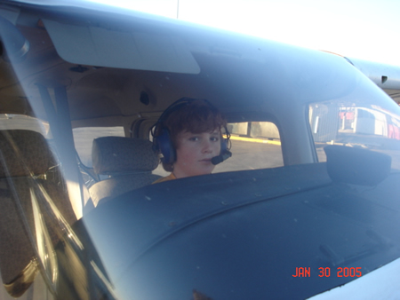 Ryan Raffo at 12 learning to fly.