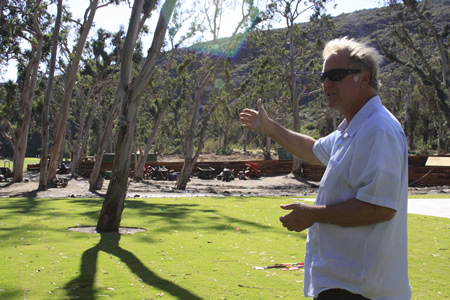 Mark Christy describes Scout Camp, his rein visioning a former scout camp on the premises.