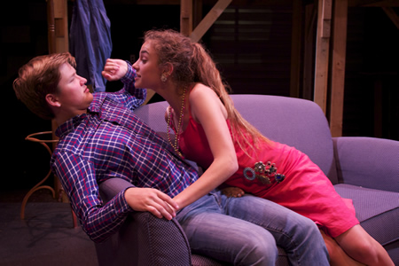 """Marlena Becker and Connor McCombs performing in """"The Shadow Box,"""" opening on Friday at the Artists Theatre.Photo by Susan Elliot"""