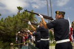 A rifle detail fires a 21-gun salute during Memorial Day ceremonies to honor 1.3 million people who have died in U.S. military service.