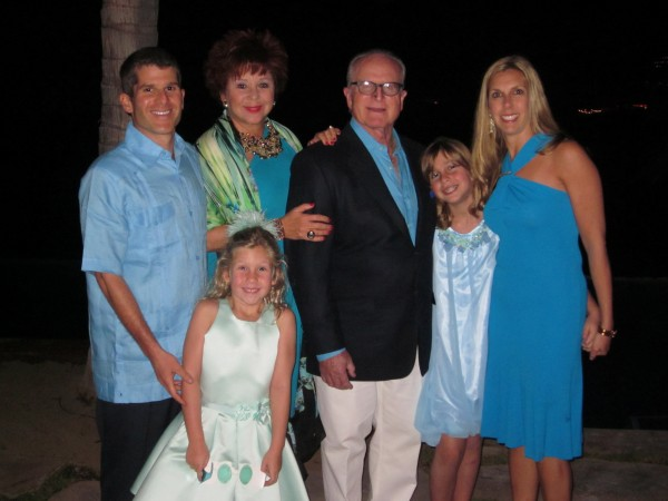 Three generations of Sonenshines continue to support Human Options; from left, Danny, Sheila, Igal, Maggi, Kerri and Sarah.