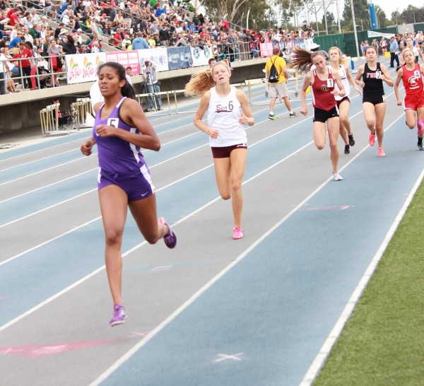 :  Junior Janie Crawford ran a personal best 2:16.84 in the 800 meters to win a second place medal at CIF finals on Saturday, May 25 at Cerritos College. Credit:  Robert Campbell