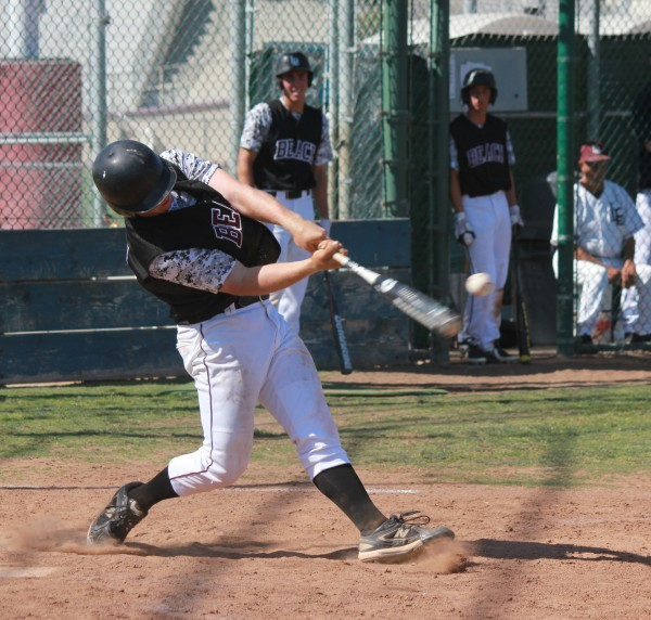 Steven Harrison connected for two homers against Costa Mesa on Thursday, May 15. Photo Credit: Robert Campbell