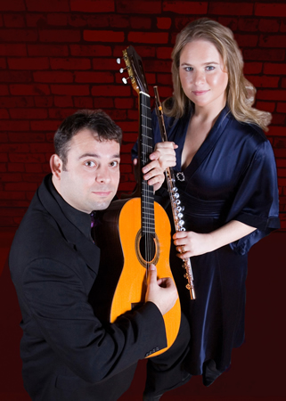 Guitarist Almer Imamovic and flutist Jessica Pierce.