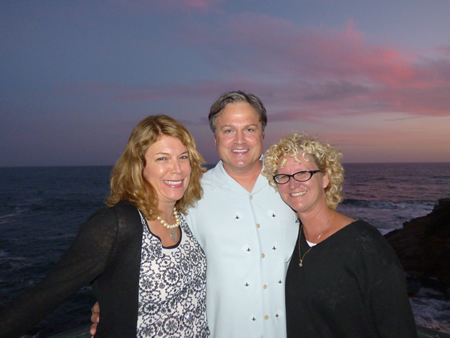 Photo: From left, Mandi Dossin, Rob Harryman and Angie Miller.