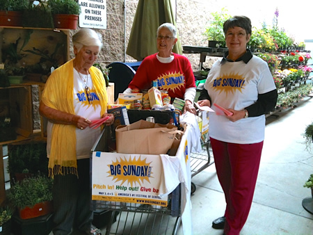 Expect to see volunteers like these hoping to enlist shoppers in their cause