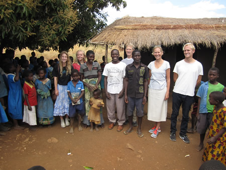 : Last summer, LBHS seniors Dakota Shyres and Michelle Brown joined Jim, Carolen, and Brooke Sadler in Malawi, where they worked with Laguna Beach resident Maryellen Carter and her non-profit Direct Connections to Africa.