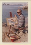 Rex Brandt paints in Newport Beach, where he lived for decades.