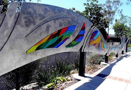 "Marsh Scott's ""Colors of the Canyon"" public art commission earned a Beautification Council Award."